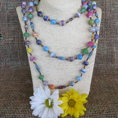 Extra Long Multi Colored Necklace
